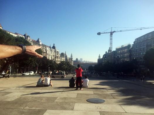 Blick auf Porto vom Rathaus aus