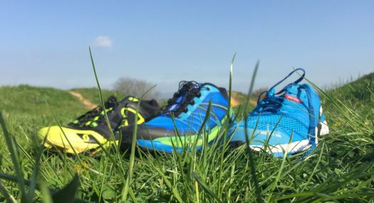 Drei Paar Schuhe zum testen