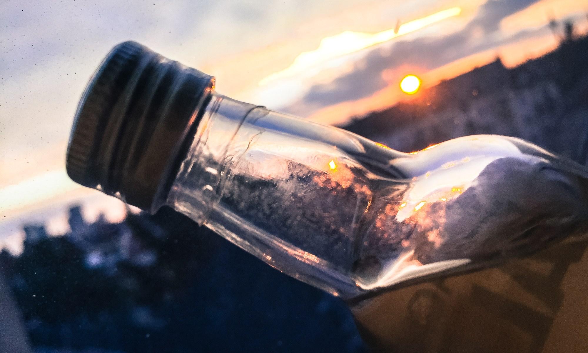 Flasche voll - Alkoholverzicht