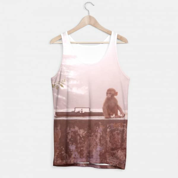 Indian Monkey Lomo Picture on a Tank Top