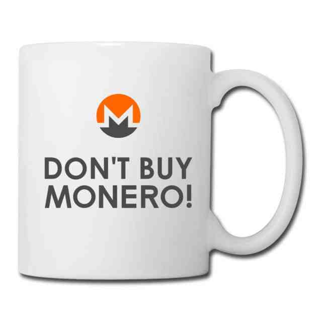 Don't Buy Monero Mug