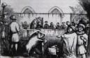"""שנת 1457 - חזירה מואשמת ברצח על דוכן הנאשמים. משפטים נגד בעלי חיים התקיימו באירופה מאז המאה התשיעית והתפשטו מאוחר יותר לאמריקה עד המאה ה-20. החיות הועמדו לדין בדר""""כ באשמת רצח בני אדם, מעשי סדום, פגיעה ביבולים ומטרד לציבור. עונשם היה לרוב מאסר, עינויים והוצאה להורג."""