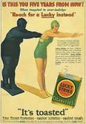 """פרסומת לסיגריות - נשים מעשנות יורדות במשקל. בעבר, אישה שעישנה סיגריה בפומבי בניו יורק – נעצרה על ידי רשויות החוק. איך ומדוע הפך עישון סיגריה ע""""י נשים מטאבו חמור לסמל של שחרור האישה?"""