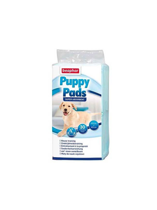tapis educateur x30 chiot beaphar puppy pads 60 x 60 cm