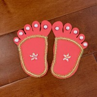 Lord Krishna's feet - DIY for Janmasthami