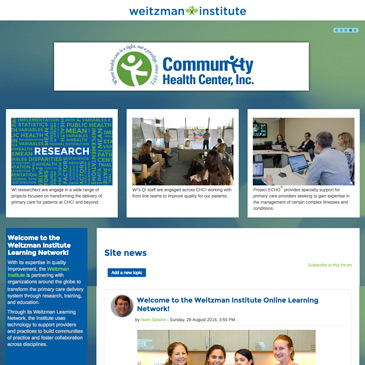 Weitzman Institute Moodle Redesign