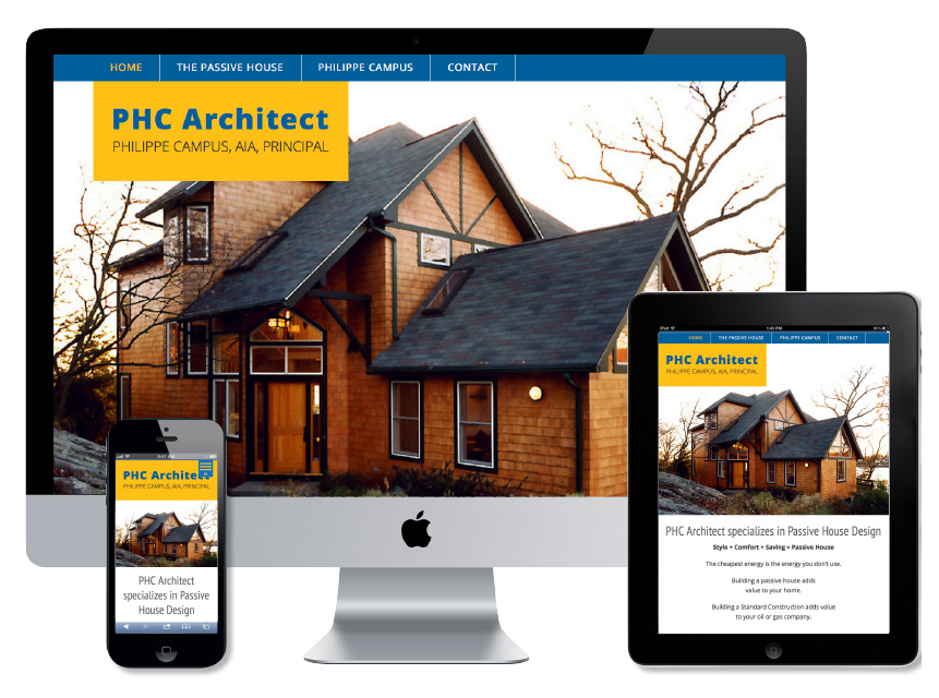 website redesign for PHC Architect