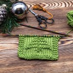 A Free Coaster Knitting Pattern With A Christmas Tree Easy For Beginners