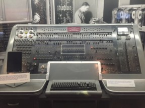 An original UNI-VAC computer that required a 13-step routine to just turn the computer on. Computer is 15 tons.