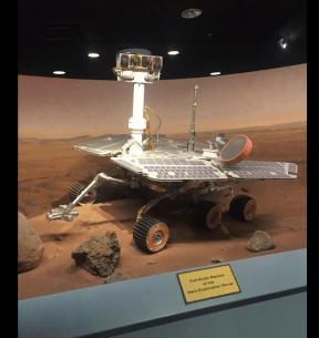 Replica of the Mars Rover, built from original blue prints.