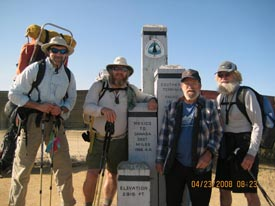 Slider, Sheltowee, Gordon and the Nomad at the Mexican border