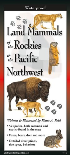 Land Mammals of Rockies & Pacific Northwest – Folding Guide