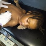 Corpse of the dead baby killed by father in Akure