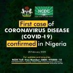 Coronavirus confirmed in Lagos Nigeria