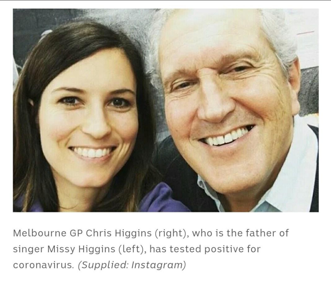 Chris Higgins: Melbourne doctor with coronavirus symptoms but