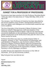 Prof Baxter Grillo Dorothea