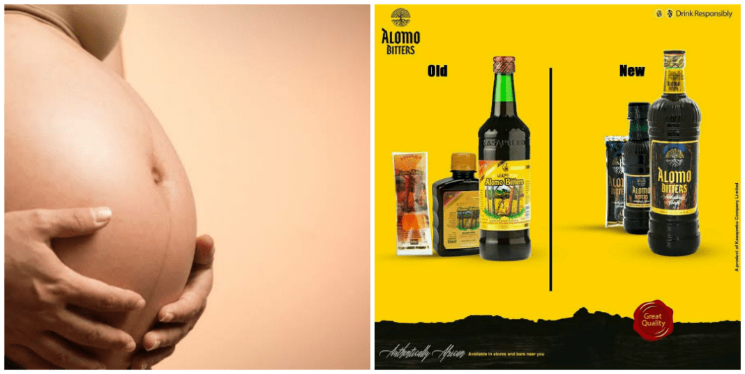 Does Alomo Bitters remove pregnancy