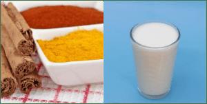 Milk with cinnamon and turmeric benefits