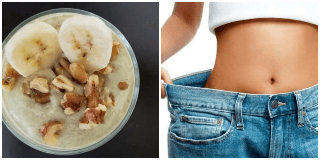 Banana chia smoothie for weight loss...