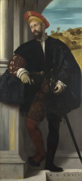 Moretto da Brescia - Ritratto virile a figura intera - 1526