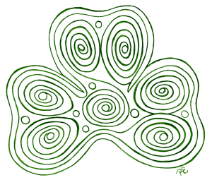 Clover Swirl - Happy St Patty's Day!