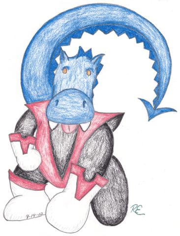 Rory as X-Men's Nightcrawler, Rorycrawler