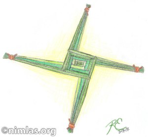 Daily Creativity: Cross of St Brigid