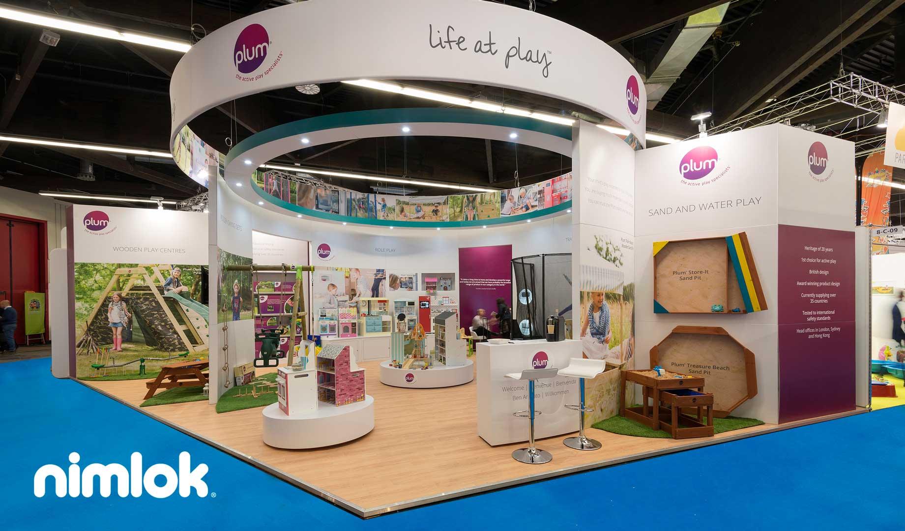 Trade show marketing nimlok exhibit