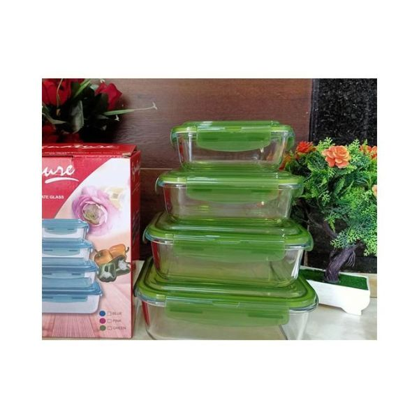 4PCS-Borosilicate-Glass-Food-Storage-Containers-with-Snap-Locking-Plastic-Lid-3