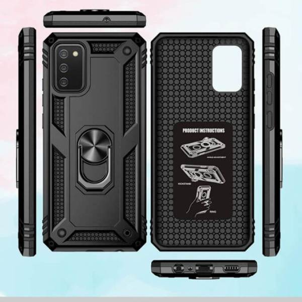Samsung Galaxy Magnetic Armour Military Ring Kickstand Holder Phone Case Cover. Models: For A12, A21S, A31, A10S, A32, A02S, A71, A50, A51 360 view