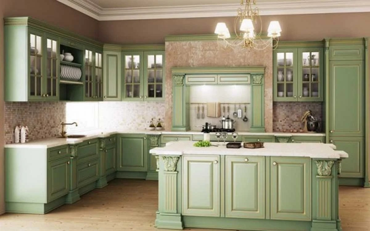 20 Gorgeous Green Kitchen Design Ideas