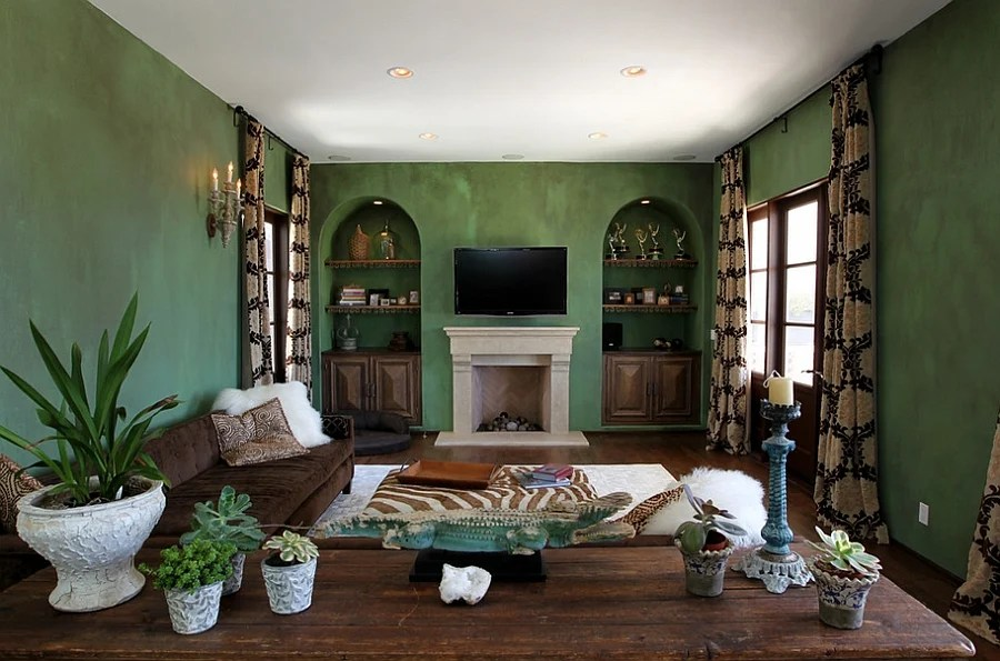 20 Gorgeous Green Living Room Ideas