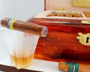 cigar humidor cake wood fondant
