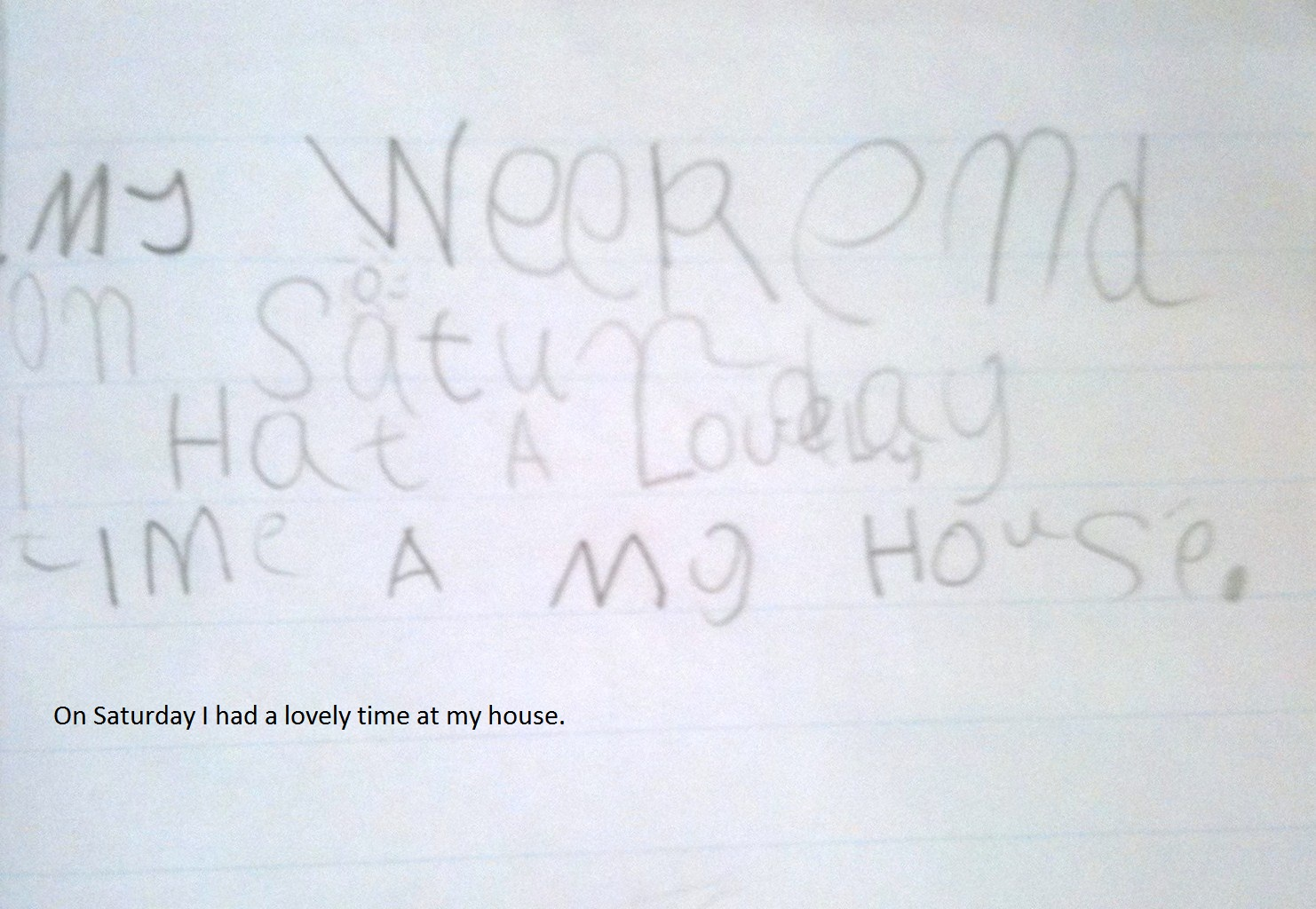 Writing For 5 Year Olds