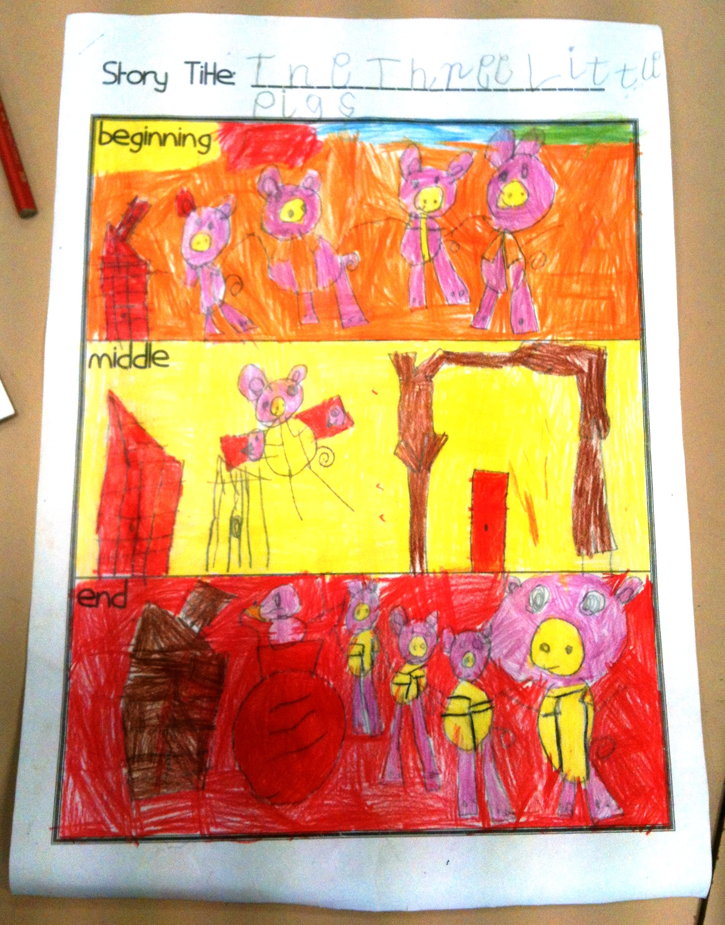 Comprehension A 4 Part Diorama Three Little Pigs Or
