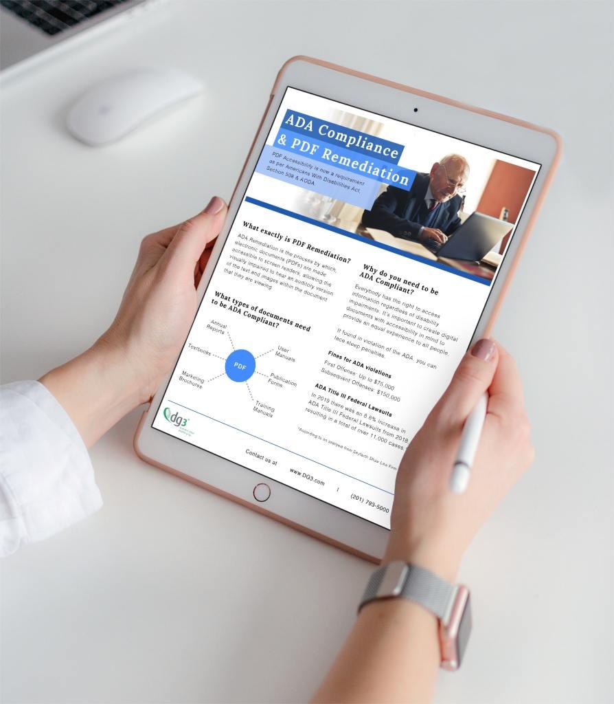 ADA Remediation Services PDF Design