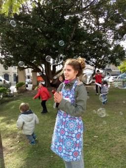 Día de feria con burbujas