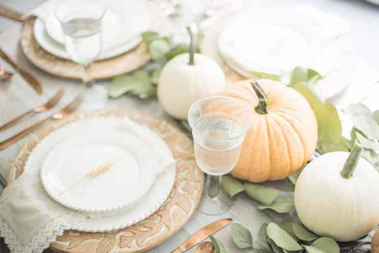 muted fall tablescape place setting