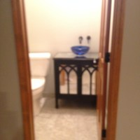 My Kitchen Re-Do! White Cabinets and Powder Room Plumbing are IN!