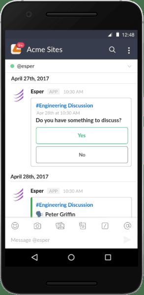 Esper Agenda a way to create and distribute meeting agendas via Slack