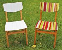 Make-Over: DDR-Stuhl vorher-nachher