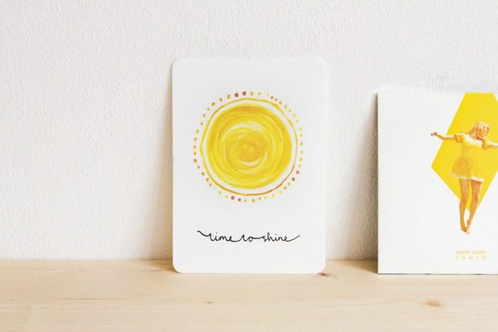 ninamaakt kaart 'time to shine'