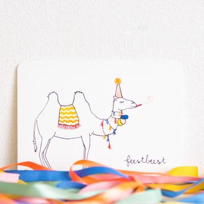 ninamaakt postcard feestbeest