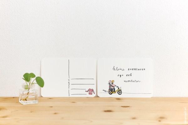 ninamaakt postcard - Kleine avonturen