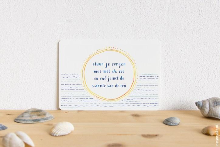 ninamaakt 'Stuur je zorgen mee met de zee'