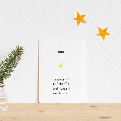 ninamaakt kaart - Ieniemini wondermooi (kerst)