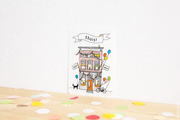 ninamaakt postcard - thuis