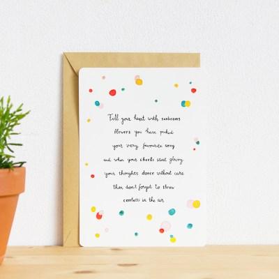 kaart miniposter ninamaakt 'Vul je hart'