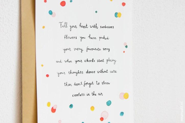 postcard miniposter ninamaakt 'Vul je hart'
