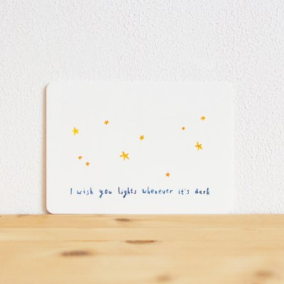 ninamaakt postcard 'I wish you lights'